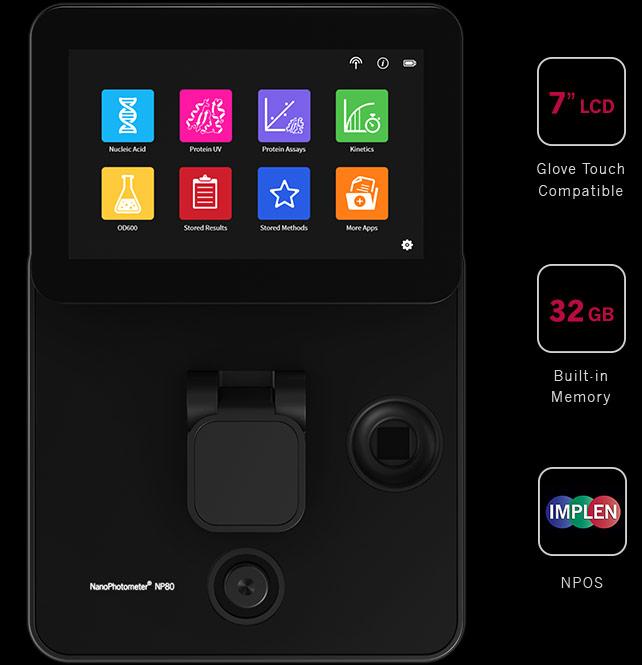 implen, nanophotometer, spectrophotometer, nanodrop alternative, nano drop, np80_stand_alone_image2