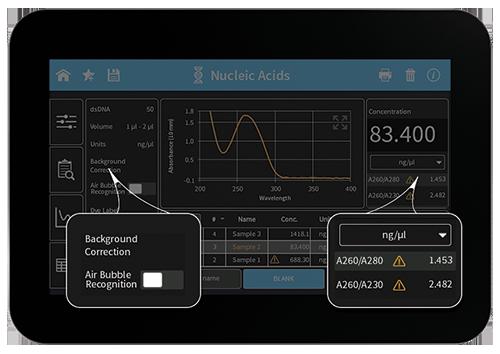 nanophotometer-sample-control-screen-by-implen-nanodrop-alternative-sm