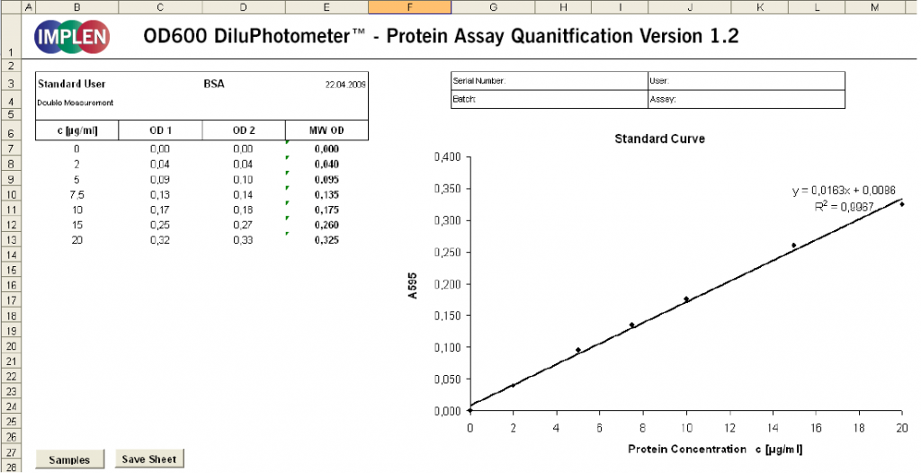 OD600-DiluPhotometer-Software-protein-assay-quantification